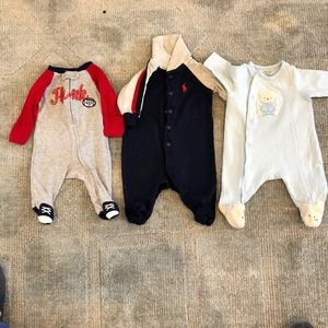 Newborn footed onesies for boys